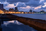 Sunset in Malecon, havana, Cuba