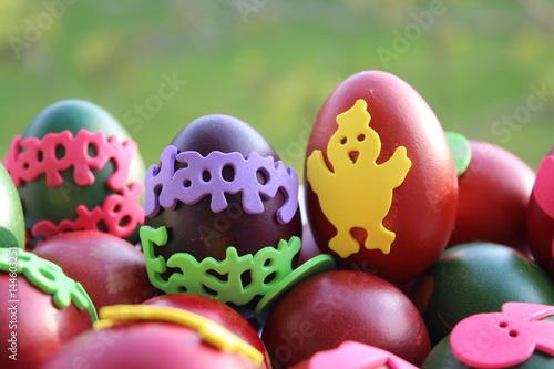 Billede painting Easter eggs