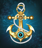 Anchor with clock