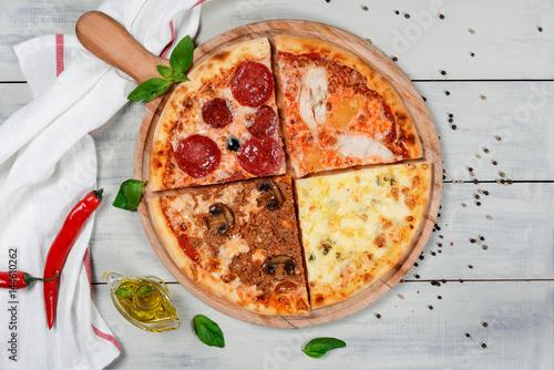 Three cheese pizza © sapunovaphoto