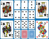 Clubs Suite Playing Cards French Style - 144620245
