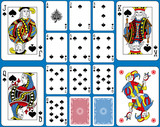 Spades Suite Playing Cards French Style - 144621452