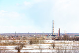 The image of an abandoned factory. The view from afar 1