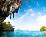 Tropical Phra Nang Beach at Railay Krabi Thailand.