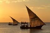 Segelboote im Sonnenuntergang auf Sansibar   - 144639457
