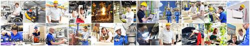 Berufe im Handwerk, Gewerbe und der Industrie - Ausbildung und Portraits von Personen im Berufsalltag