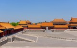 Traditional Chinese buildings under blue sky