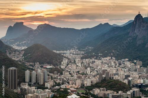 In de dag Rio de Janeiro Aerial view of Rio de Janeiro, Brazil. Taken from Sugarloaf mountain.