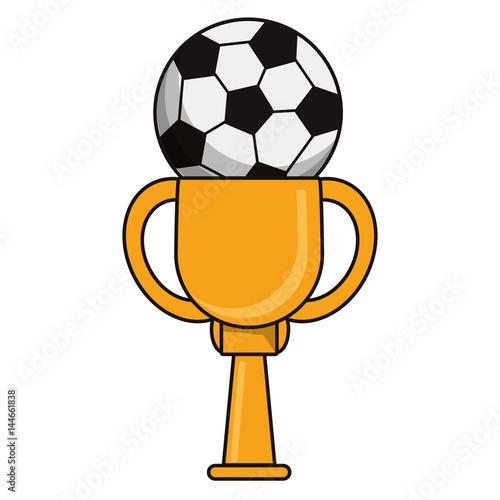 trophy soccer sport golden image vector illustration eps 10