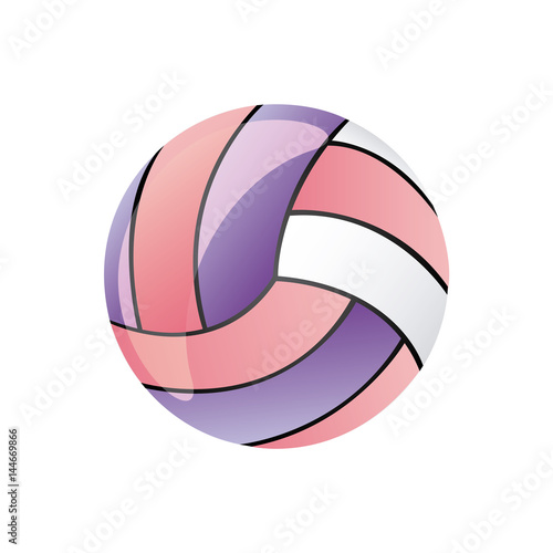 colorful silhouette volleyball ball element sport vector illustration