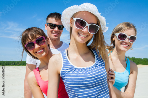 young people at  summer time