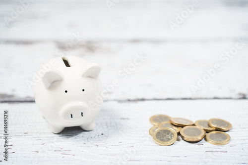 white piggy bank - 144693216