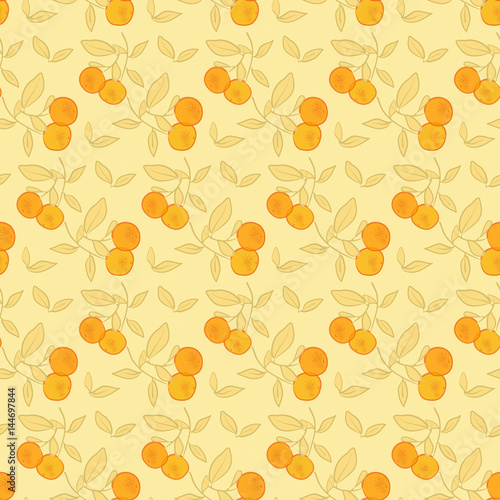 orange pattern, seamless fruit pattern background - 144697844