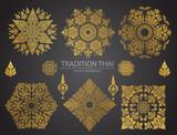 Set of Thai art element, Decorative motifs. Ethnic Art, icon vector - 144702081
