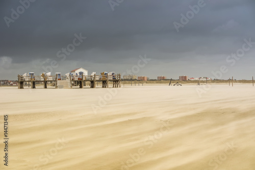 Fotobehang Noordzee Sandsturm