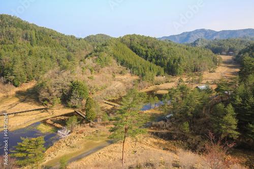 徳島県三好市 黒沢湿原 展望台からの風景