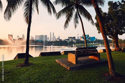 Aluminium Kuala Lumpur Kuala Lumpur at the sunrise