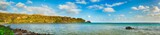 View of a sea at day time. Mauritius. Panorama