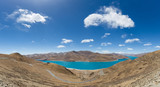 tibet holy lake yamdrok panorama
