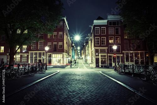 Amsterdam at night, Netherlands