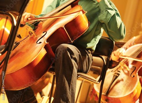 Quadro su vetro arte moderno strumenti musica orchestra gi