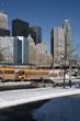 Toronto downtown, school bus