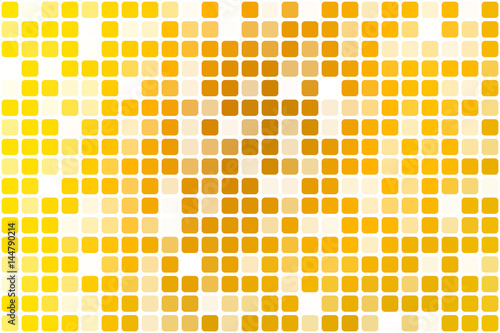 Bright golden yellow occasional opacity mosaic over white
