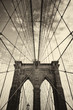Brooklyn bridge in New York in sepia