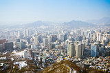 Seoul scenery from the top of Seoul Tower