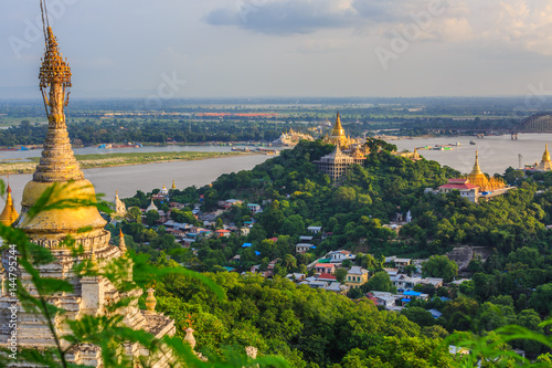 Poster Sagaing hill , Sagaing City, The Old City of Religion and Culture Outside Mandal