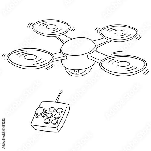 Papiers peints Cartoon draw vector set of drone