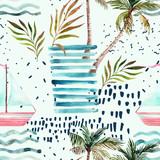 Abstract summer seamless pattern. - 144813885