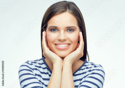 Beauty portrait of smiling girl.