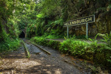 Abandoned Helensburgh Railway Station and tunnel near Sydney in Australia
