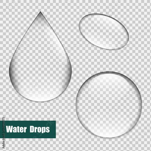 Zestaw baniek, zestaw kropli wody. Szklana kula