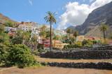 VALLE GRAN REY, LA GOMERA, SPAIN: The village of La Calera with colorful houses