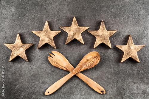 Poster Five stars on dark background
