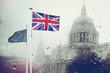 brexit angleterre sortie europe union européenne drapeau politique choix référendum royaume uni avenir pluie saint paul