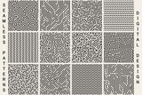 Collection of striped seamless geometric patterns. - 144835853