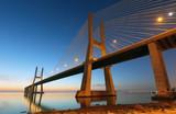 Bridge Lisbon at sunrise, Portugal - Vasco da Gamma