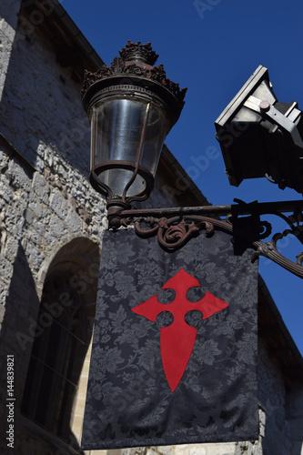 Banderines de una cruz templaria. Poster