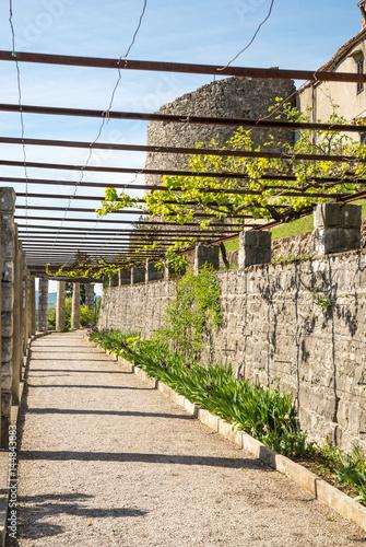 Beautiful Ferrari garden in small city of Stanjel in Karst region in Slovenia, E Poster