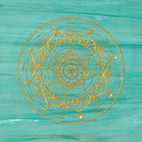 Unique golden mandala - 144851423