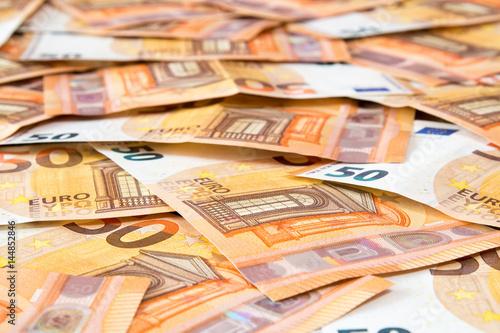 50 Euro banknotes Poster