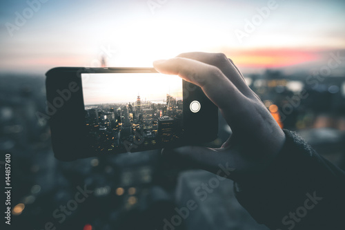 Smartphone Photography in Manhattan - New York Poster