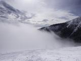 Landscape of Tatra lower mountain in winter time, with piste off Jasna Chopok ski resort.