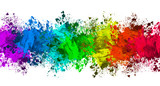 Multi-Color Paint Splatter Border/Background - 144865033