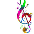 Colorful Musical Notes