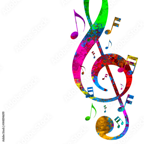 Colorful Musical Notes - 144894699