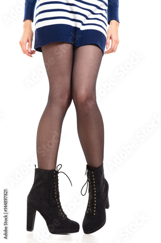 Attractive woman legs in boots Poster